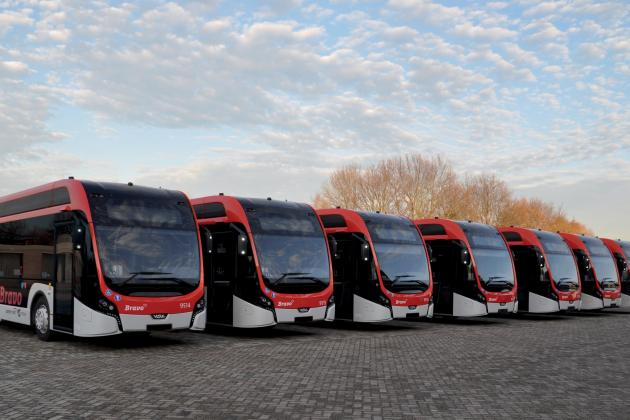 43 electric buses in scheduled service in Eindhoven region