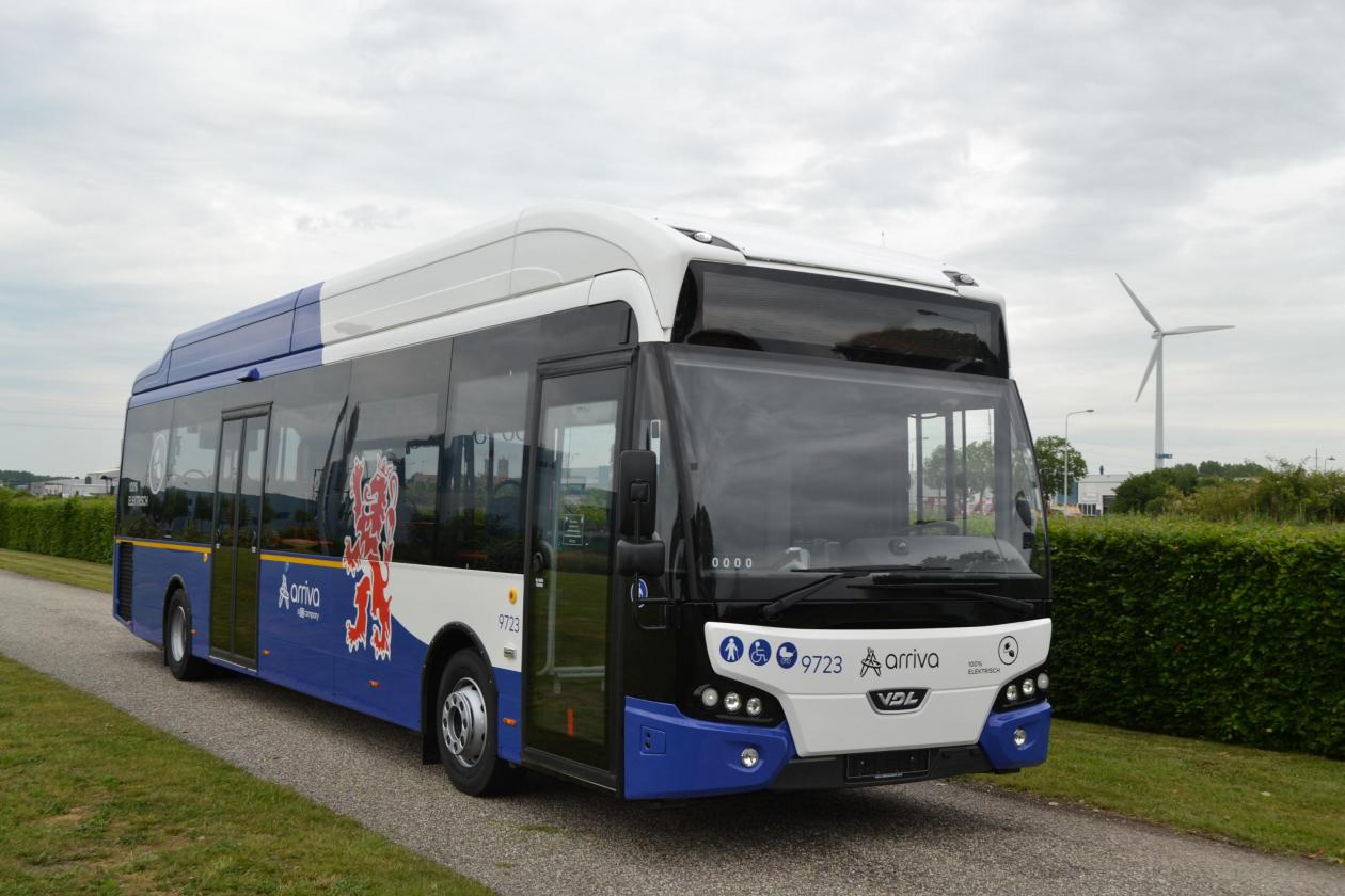 Arriva to launch VDL's largest fleet of electric regional buses in Limburg